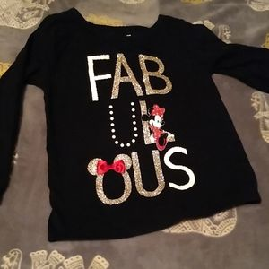 Disney Minnie mouse long sleeve shirt